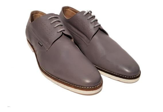 Zapatos Careva 4009 Urbanos 100% Cuero Gris