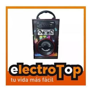 Parlante Portatil Karaoke Multimedia Bluetooth Con Control