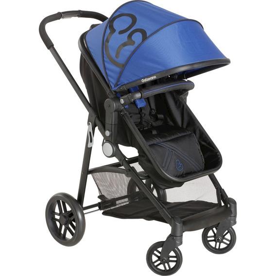 Carrinho De Bebê Galzerano Gero - Preto/azul