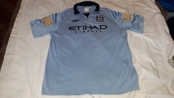 Camiseta Ca Manchester City Umbro 2011/12 Orig Kun Num.16.