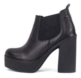 Botineta De Cuero Zapatos Botas Mujer 2019 Modelo Logan