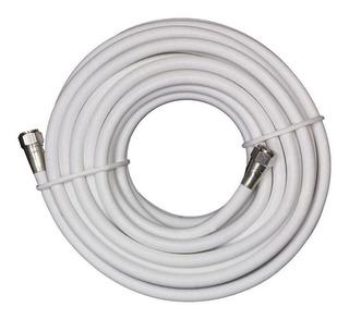 Cable Armado Coaxil Rg6 15 Mts Blanco Tda Antena Parrilla