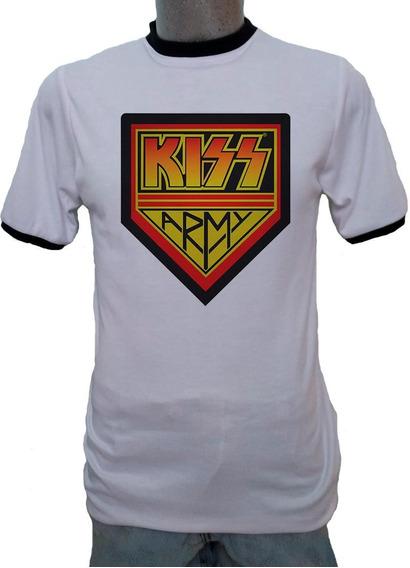 Playera Ringer Kiss Army