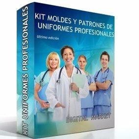 Kit Imprimible Patrones Uniformes Medicos Costura Moldes