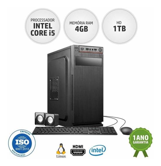 Computador Pc Intel Core I5 1tb Hd 4gb Ram Pronta Entrega