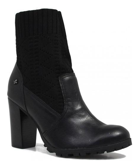 Bota Cravo E Canela Ankle Boot Salto 144114