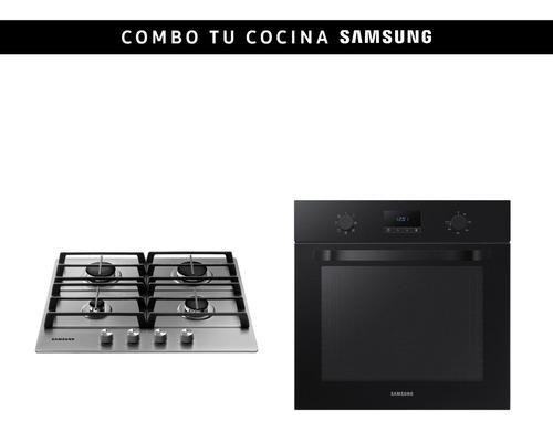 Imagen 1 de 3 de Combo Samsung Horno + Anafe A Gas Silver 4h Stienda