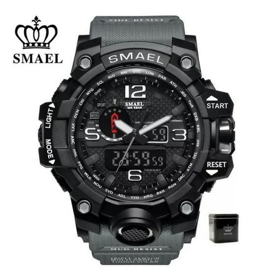 Relógio Smael Original Na Caixa Tático Militar Prova D