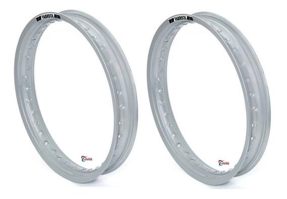 Par Aro Moto Alumínio Prata Titan Fan 150/125 18x160+18x185
