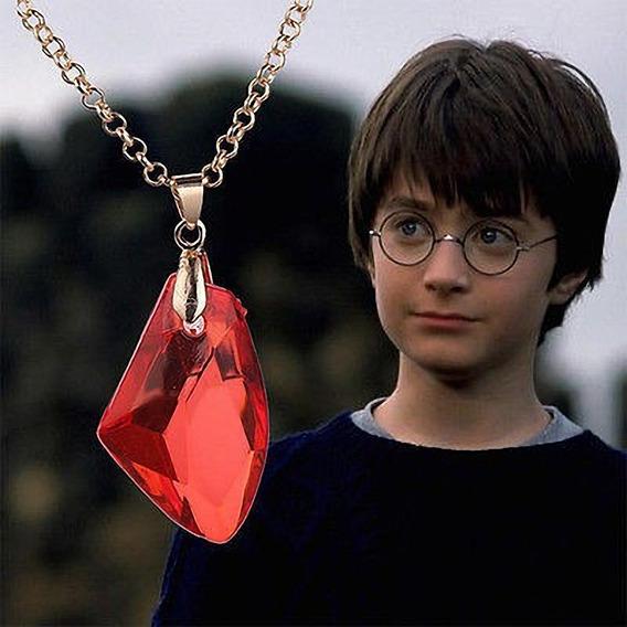 Harry Potter Piedra Filosofal Dije Y Collar Con Cadena