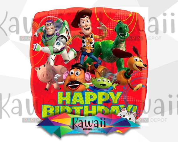 Globo Metálico Toy Story - Happy Birthday - Helio - 45 Cm