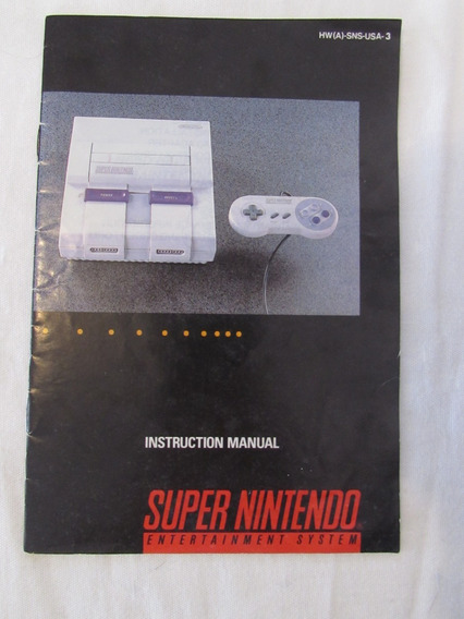 Instruction Manual Super Nintendo - Original