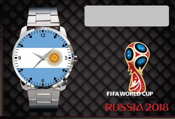 Relógio De Pulso Personalizado Copa 2018 Argentina