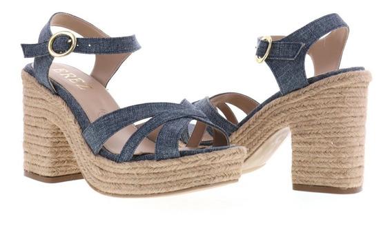 Sandalia Plataforma Casual Para Mujer Color Yute Natural