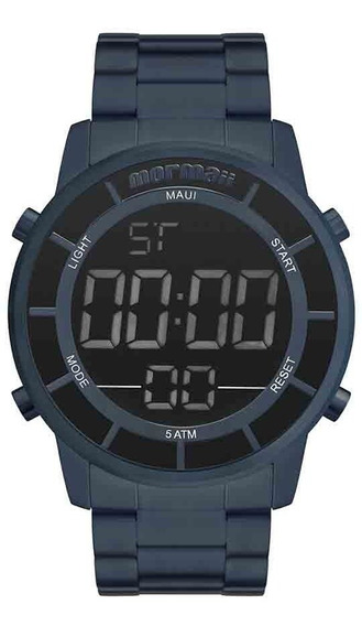 Relógio Mormaii Masculino Mobj3463dd/4a Azul Negativo Digita