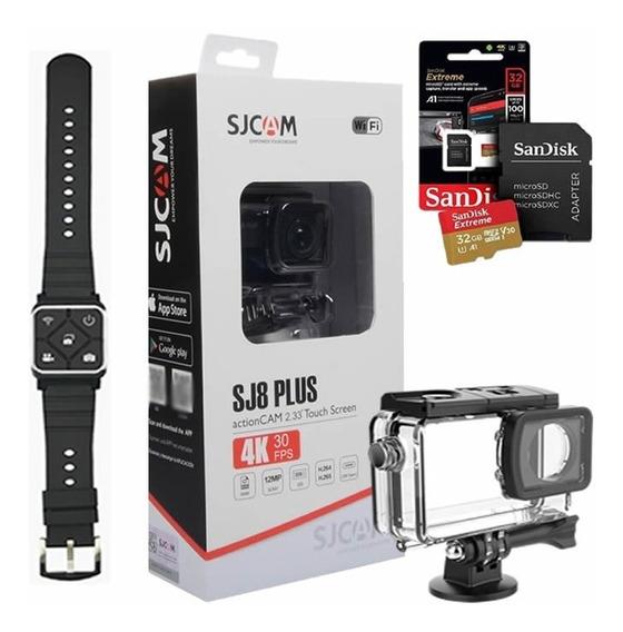 Camera Esportiva Sjcam Sj8 Plus + Pulseira + 32gb Ext
