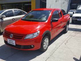 Volkswagen Saveiro 2013 Cab. Y Media Km 77000 Full Roja