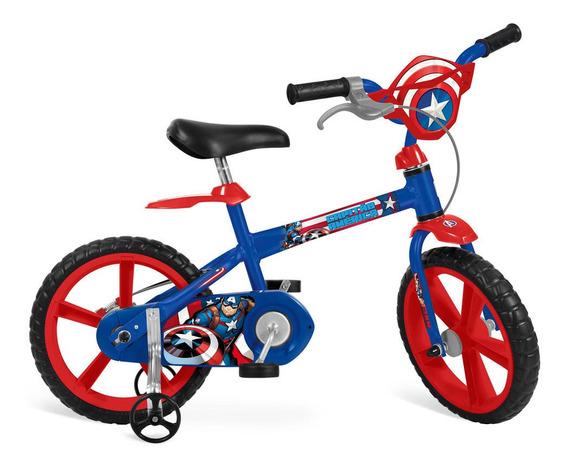 Bicicleta Aro 14 - Disney - Marvel - Capitão América - Bande