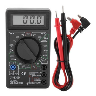 Tester Multimetro Digital Con Buzzer Dt830d