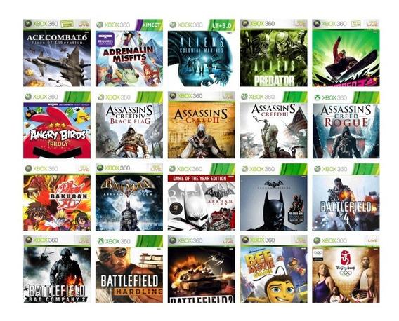 Jogos Xbox 360 Destravado Kit 8 Jogos Midia Fisica