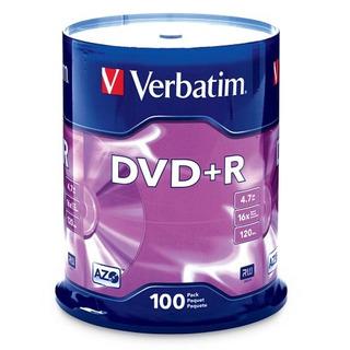 Verbatim Dvdr 47gb 16x Azo Disco Grabable 100 Disco Husillo