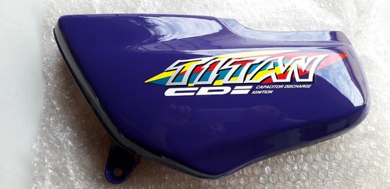 Tampa Lateral Esquerda Cg Titan 125 Azul 99 Original Honda