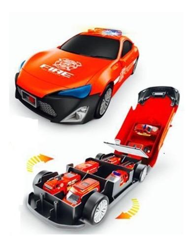 Juguete Niño Armar Bombero Auto Garage A Pilas Luces Sonidos