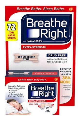 Imagem 1 de 5 de Breathe Right - Dilatador Nasal Extra 72 Unid