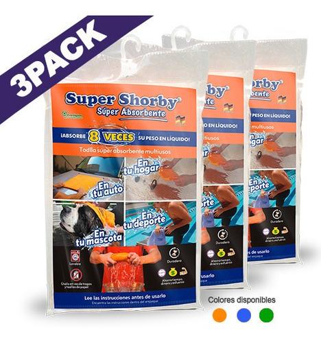 Paño De Limpieza Super Shorby Super Absorvente (3 Unidades)