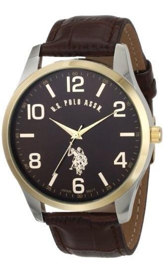Reloj De Hombre Con Banda De Cuero U.s. Polo Assn. Classic