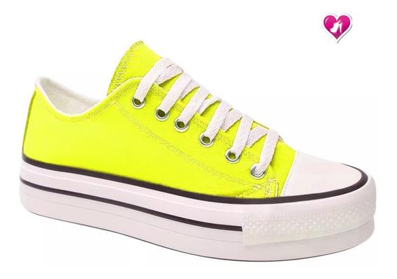 Zapatillas Mujer Modelo Star Clasica Lona De Shoes Bayres