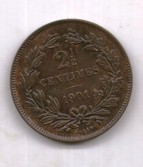 Luxemburgo Moneda 1901 2 Y 1/2 Centimes Km#21 - Argentvs