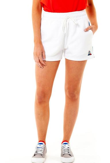 Short Ess Stripe Blanco Mujer Le Coq Sportif
