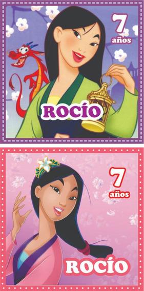 24 Tarjetas Invitacion Cumpleaños 9x13 La Sirenita Ariel