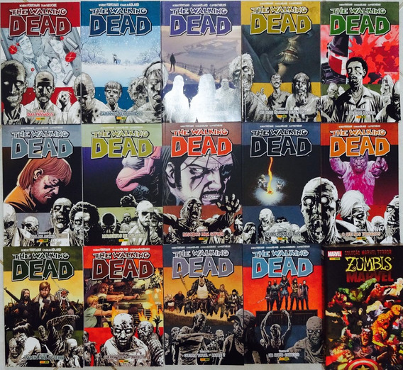 The Walking Dead Panini 1-10 19-22 & Zumbis Marvel 1-4