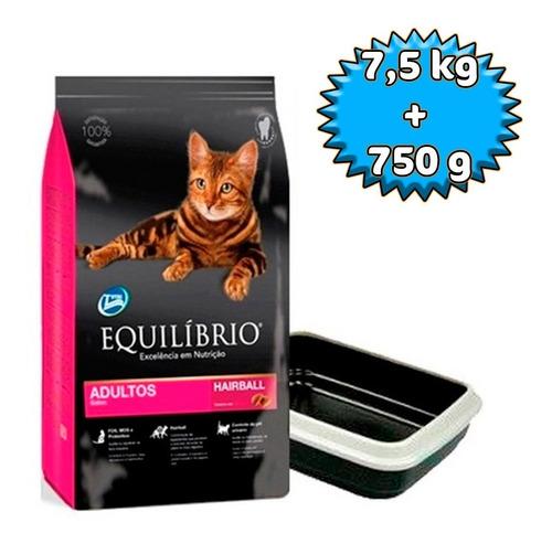 Alimento Equilibrio Gato Adulto 7,5kg + Bandeja Sanitaria
