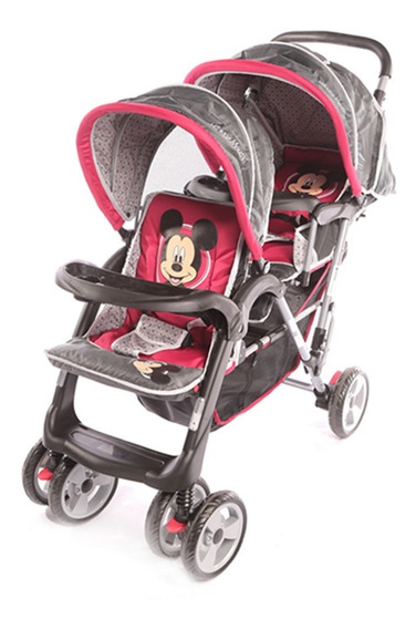Cochecitos Bebes Hermanitos Disney Mickey 3304 Babymovil