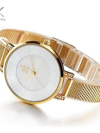 Mulheres Feminino Relógio De Moda Bracele Relógio Único Cria