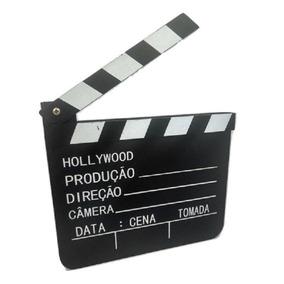 Claquete Madeira 20x18 Cm Ideal Youtubers E Videos - 134571