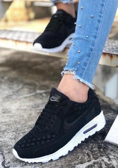 Zapatos Que Brillan En La Oscuridad Tenis Nike Negro en