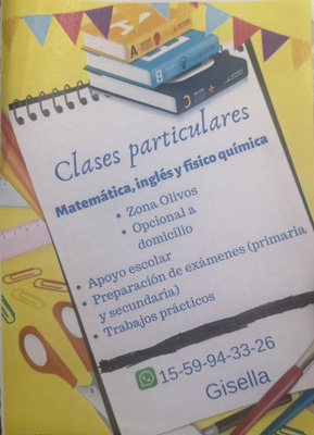 Apoyo Escolar / Clases Particulares Matemática E Inglés.