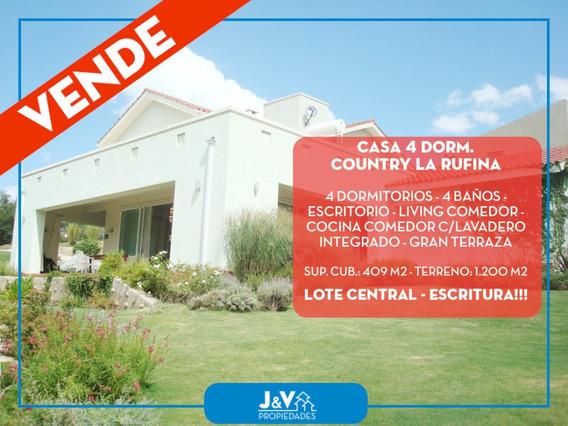 Vendo Casa 4 Dorm. Pileta Y Quincho. Country La Rufina, Córd
