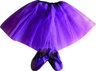 Tutu + Badanas Zapatillas Media Punta Ballet Danza Rosa Etc