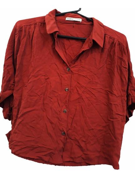 Camisa De Algodon Amplia. Importada Pull&bear! Nueva! (n026)