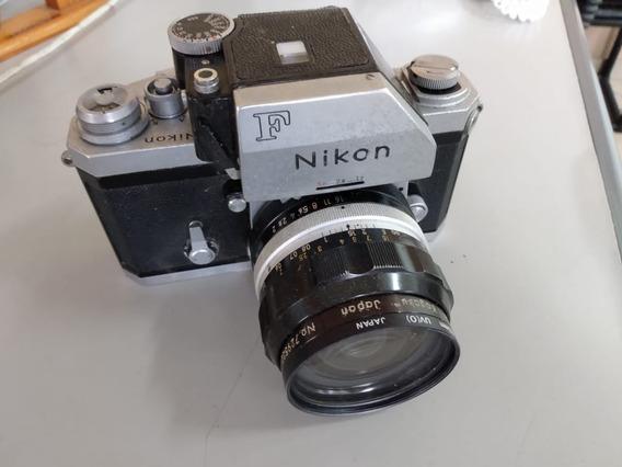 Câmera Nikon F Com Lentes (manual/analógica/filme)