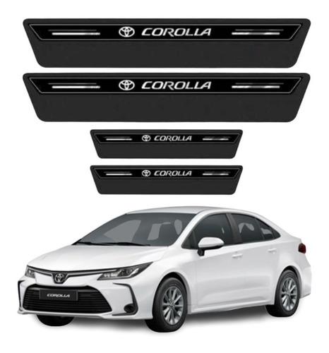 Soleira Protetor Porta Toyota Corolla 2019 2020 2021  Preto