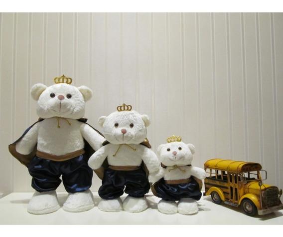 Trio De Ursos Príncipes Em Pé P, M E G Off White/azul Marin