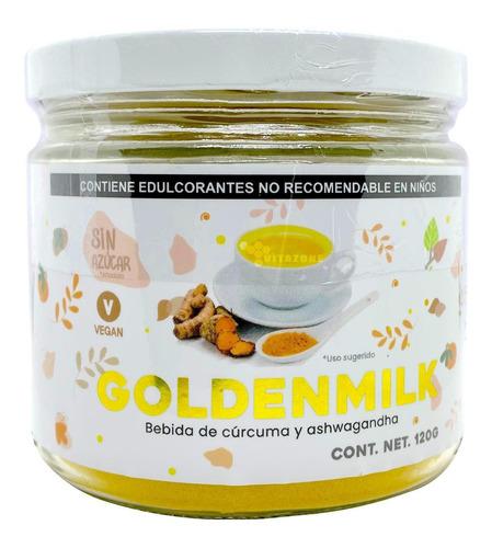 Imagen 1 de 3 de Leche Dorada 120 G Cúrcuma Golden Milk Vegana.