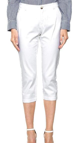 Pantalon Capri Blanco Loft Ann Taylor Y Capri Playero