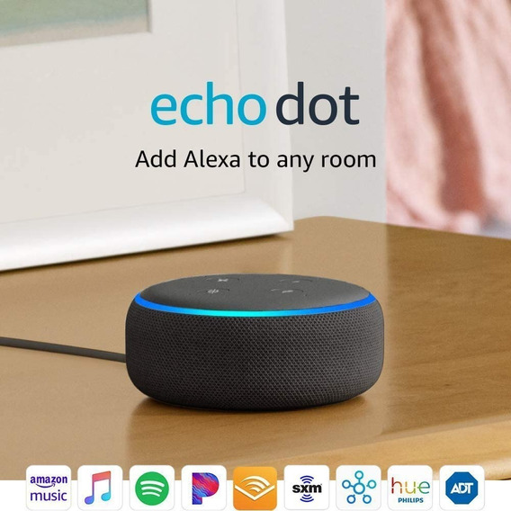 Smart Speaker Amazon Alexa Echo Dot 3 Preto Português Novo